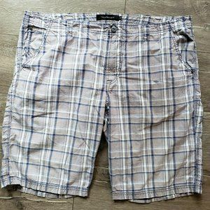 Calvin Klein Jeans Mens 42 Plaid Chino Shorts